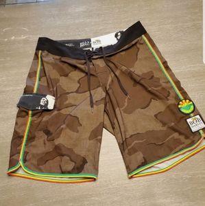 Mens Billabong Bob Marley Camo Shorts Size 36